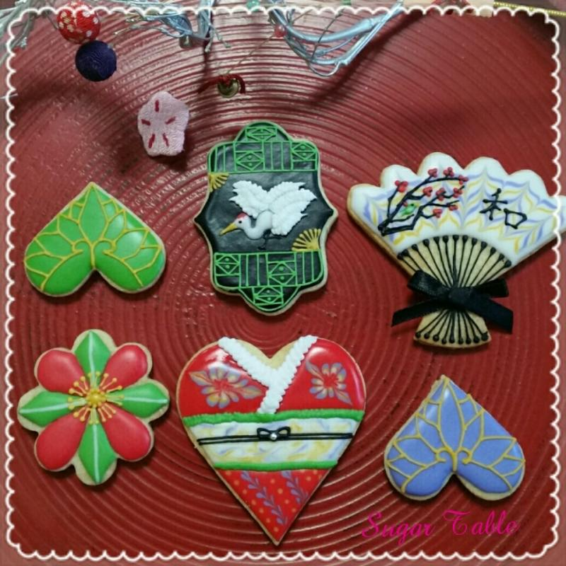 Japanese style new year cookies