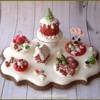 Icing food miniature on cookie: Christmas dessert table ❤️