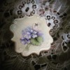 Handpainted Violets
