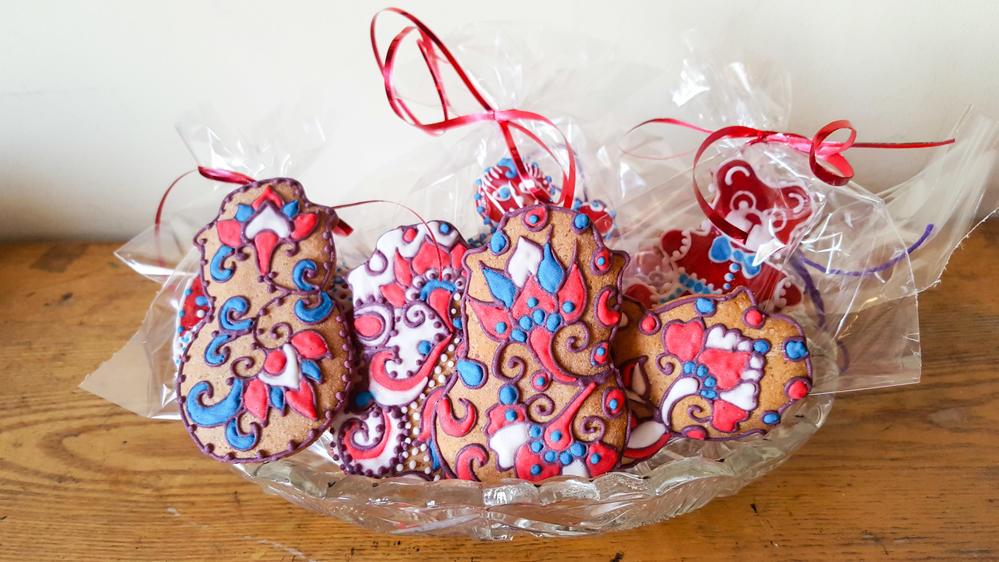 Art Nouveau Christmas Cookies | Cookie Connection