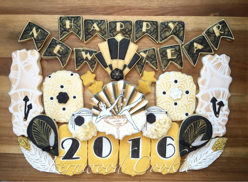 Art Deco-Inspired New Year 2016