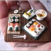 Royal Icing Sushi Miniatures on Cookie