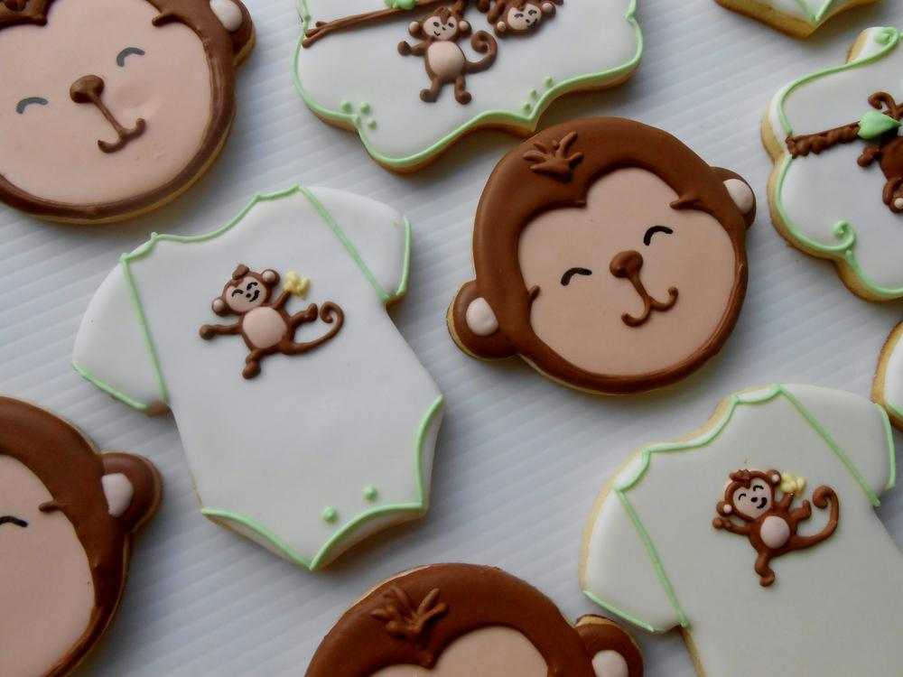 Monkey Baby Shower Cookies Cookie Connection