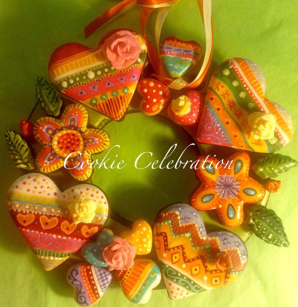 Bohemian Valentine Heart (Cookie Celebration)