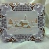 Snowy Village Gingerbread Card