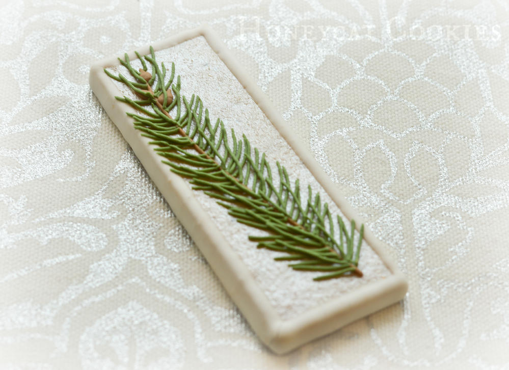 Winter Wedding Spruce Cookie