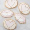 Love Swans and Elegant Heart Cookies