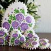 Пряники фиолетовые цветочки