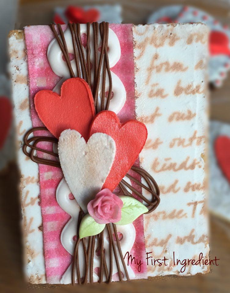 Valentine Cookie Card