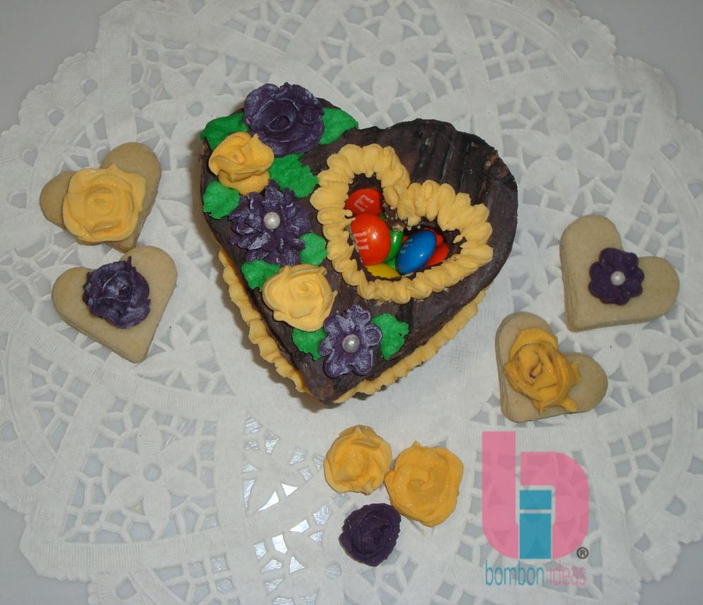 Caja de galletas floral