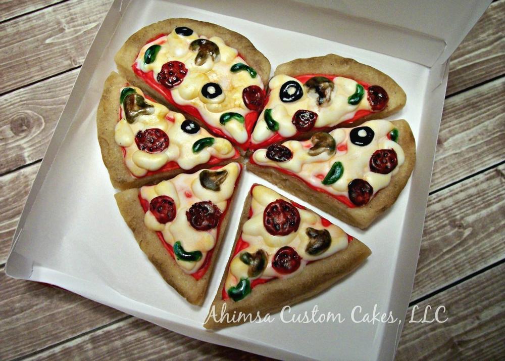 Heart Pizza by Ahimsa Custom Cakes