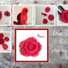 Gum Paste Rose Step by Step   by Manu