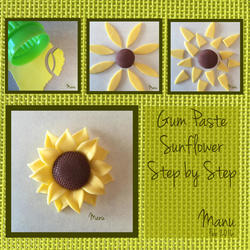Gum Paste Sunflower Step by Step Manu Feb 2016