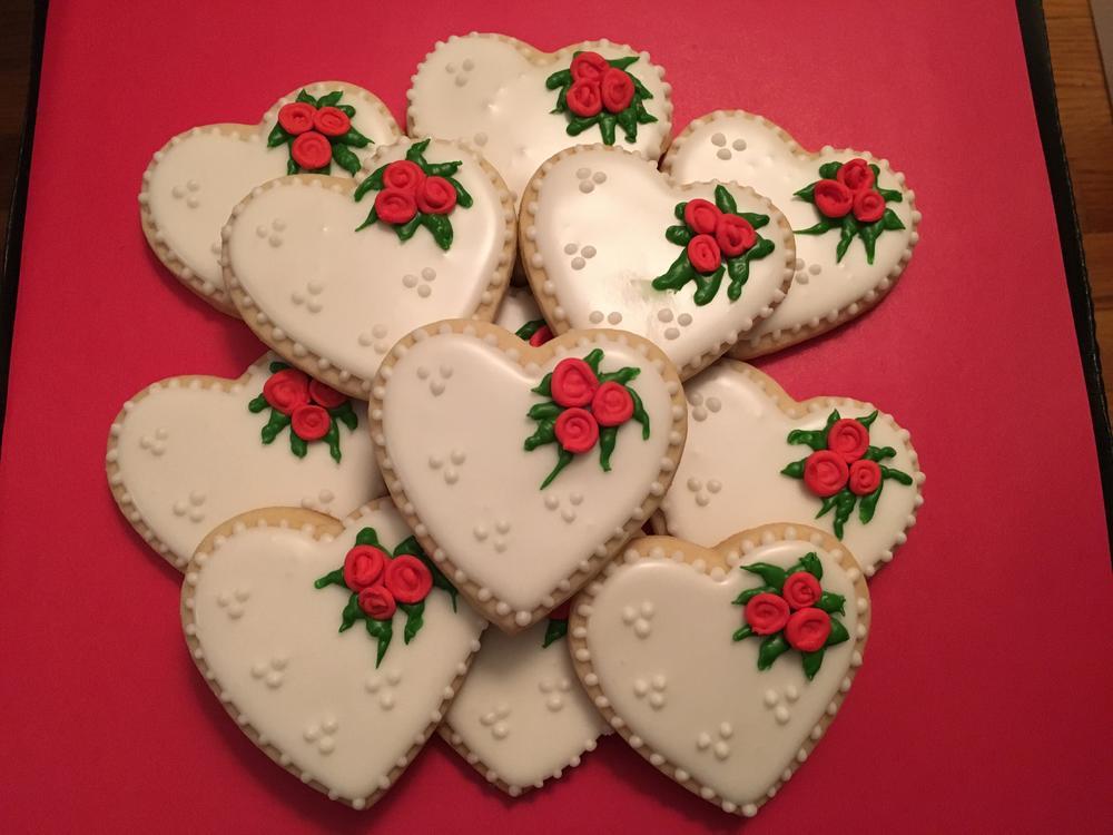 Valentine's Day cookies 2016