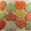 Baby girl valentine cookies