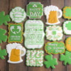 St. Patty's Day Stenciled Cookies