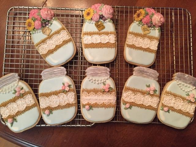 Mason Jar Birthday Cookies Inspired By Sweetambs Cookie Connection