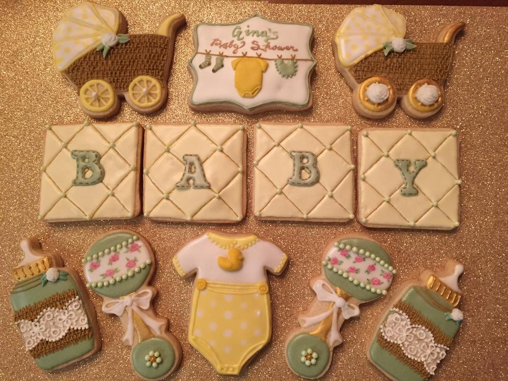 Baby Shower Cookies Gender Neutral