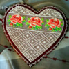 Needlepoint Heart with Roses