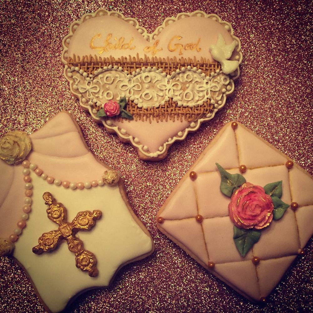Baby Girl Christening Cookies