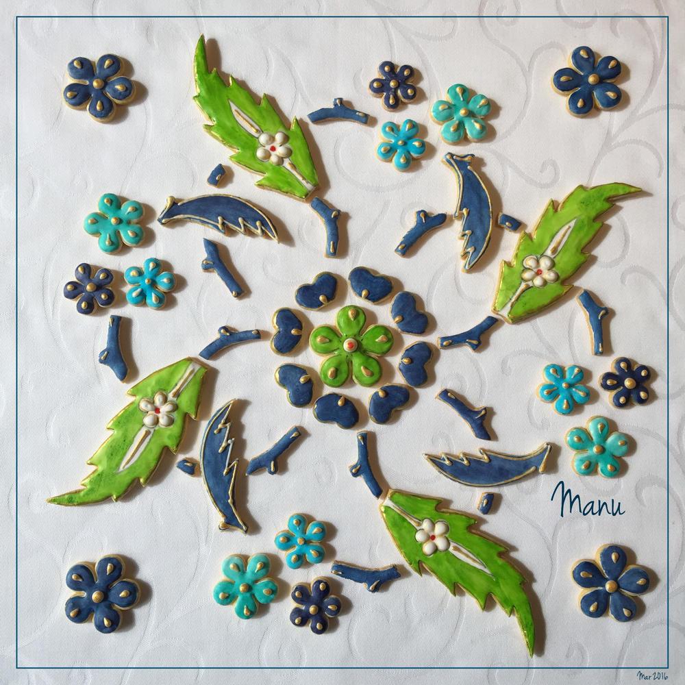 Floral Tile Design   Manu