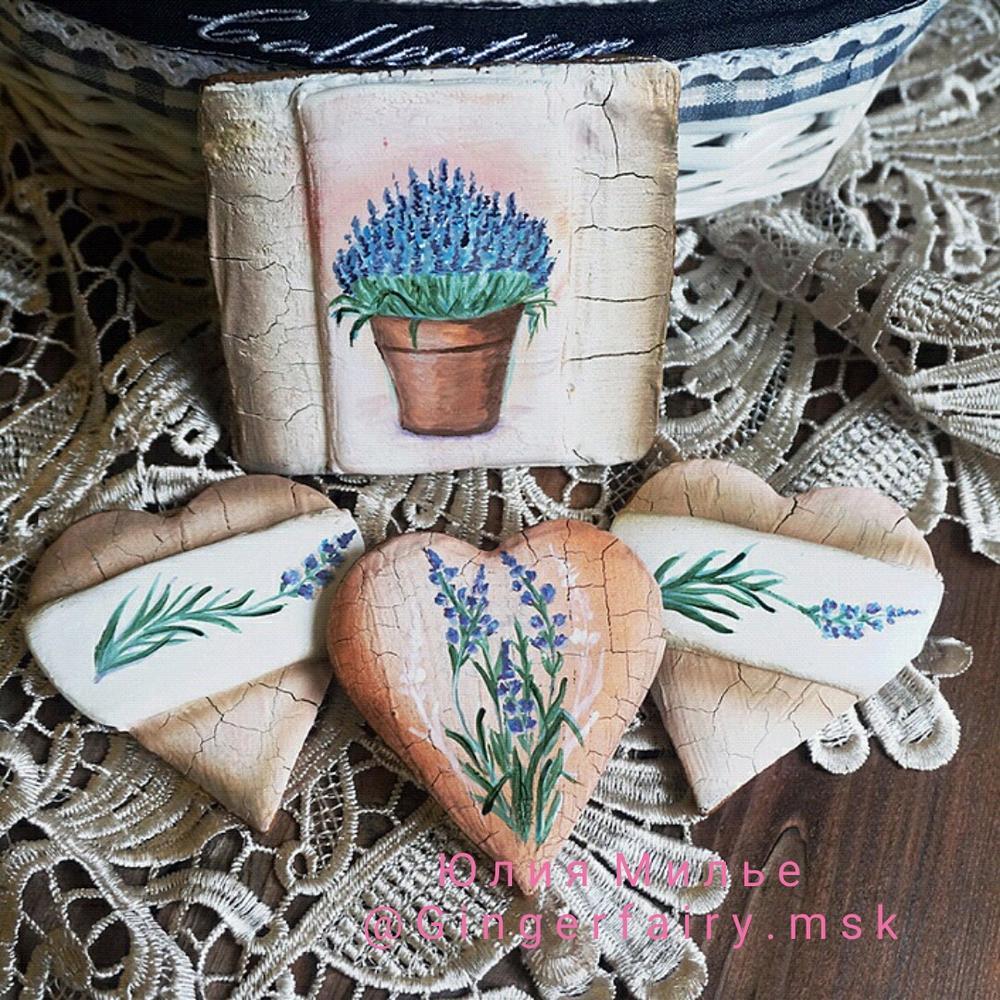 lavender cookies by Gingerfairy