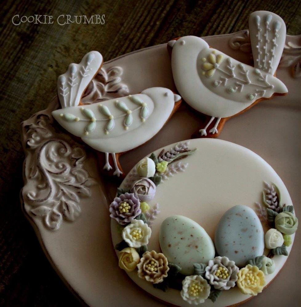 Spring Egg Wreath and Birds