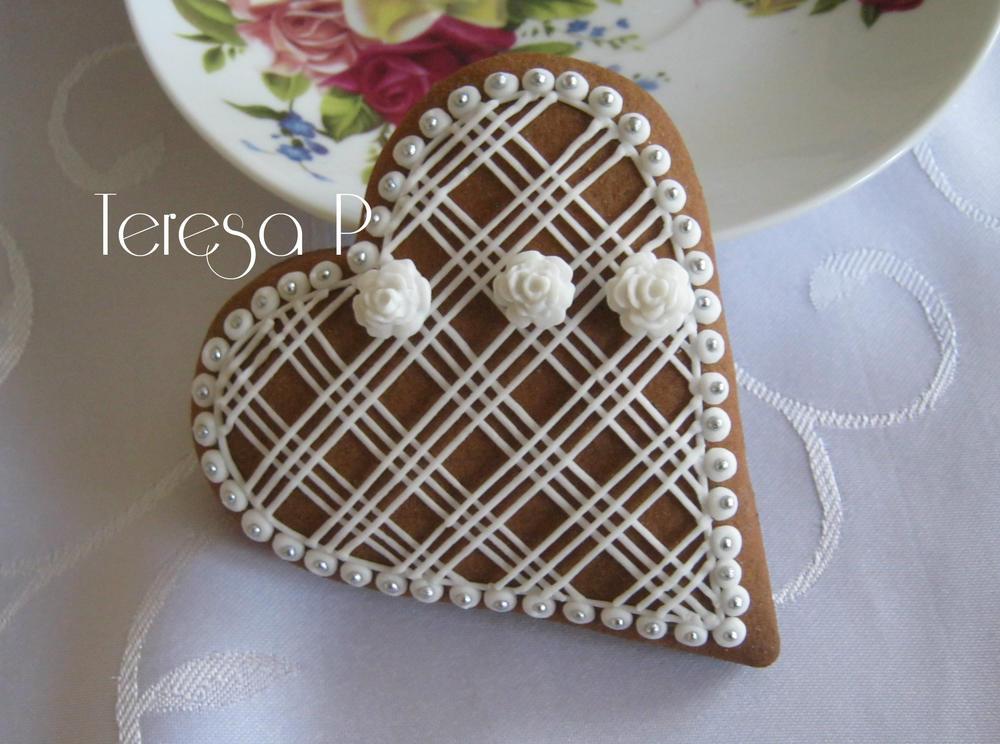 2-D Gingerbread Heart, zwłaszcza PerničkyCookies igłowe