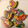 Colorful Peace Birds (Cookie Celebration)