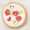 Brush Embroidery Poppy Cookies