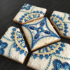 Royal blue + gold cookie puzzle