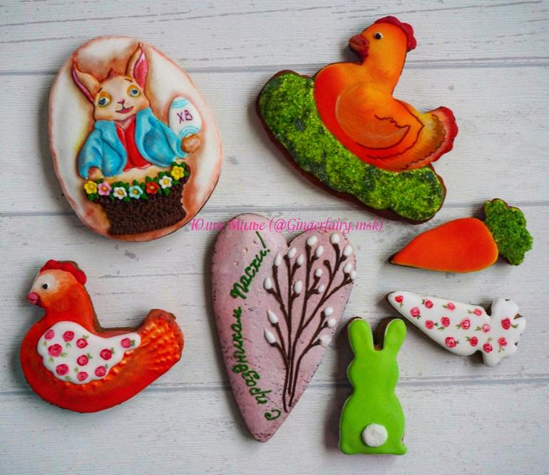 Mr.Rabbit Easter cookies  set by Gingerfairy