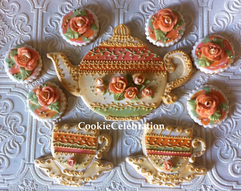 Roses and Tea (Cookie Celebration LLC)
