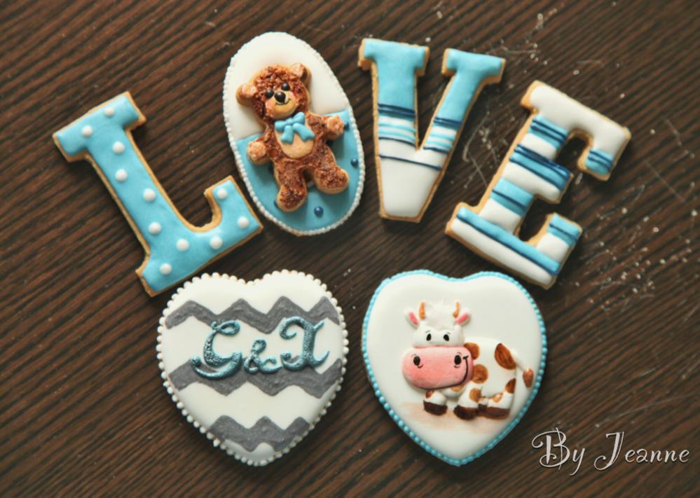 Valentine's Day/birthday gift cookie set