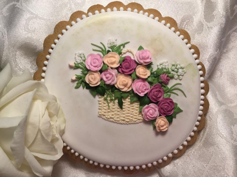 A Basket Full of Roses for Mom