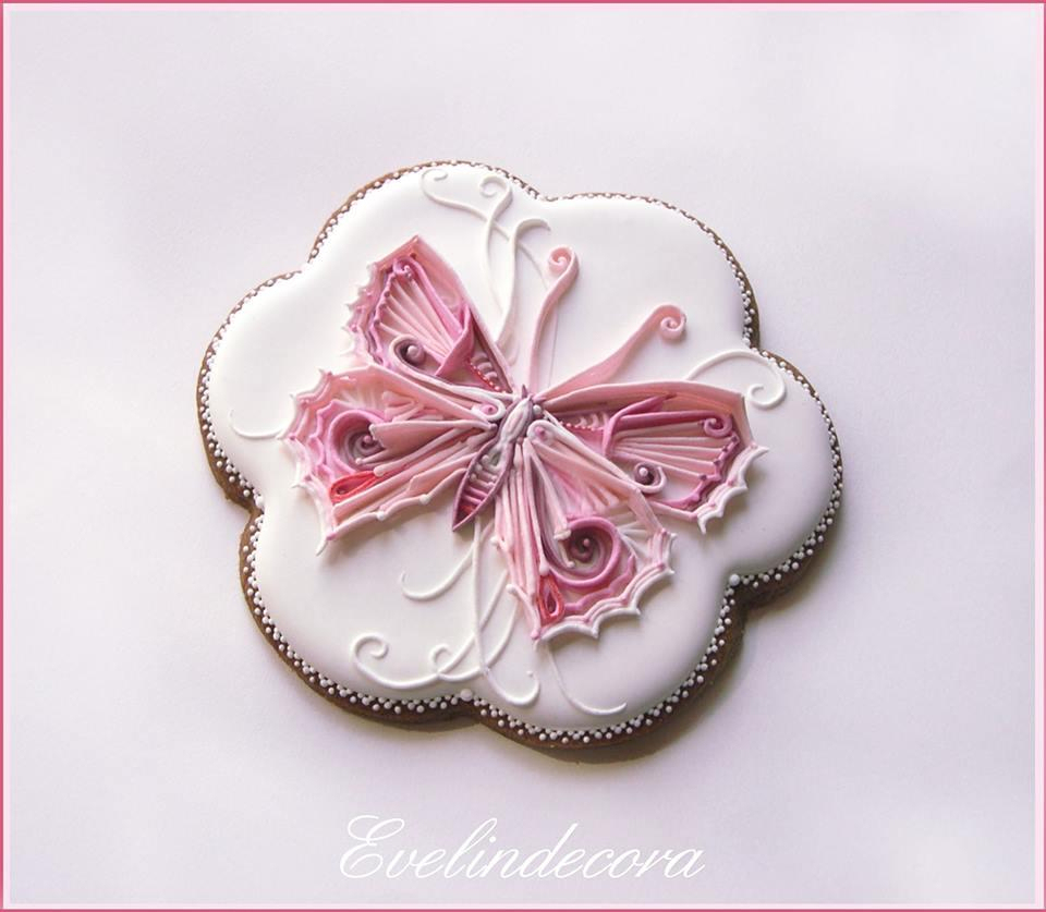 Abstract Butterfly Cookie