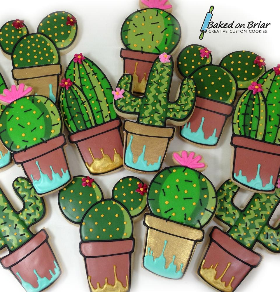 Cacti in Painted Pots