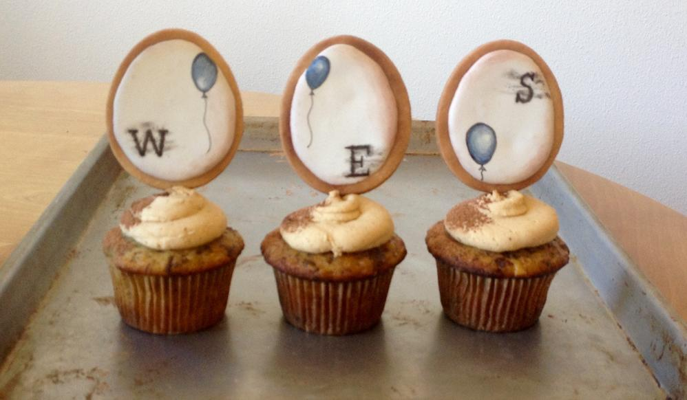 Birthday Initial Cupcake Toppers