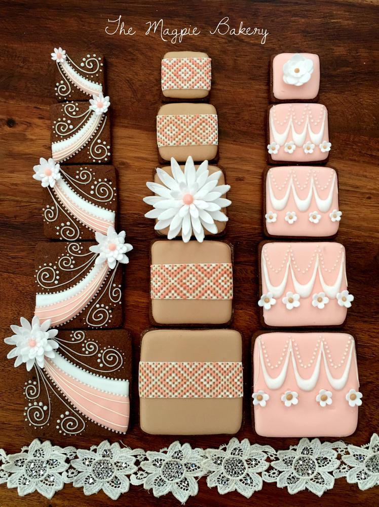 5 Tier Wedding Cake Cookies   The Magpie Bakery