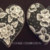 Black and White Hearts (Cookie Celebration llc)