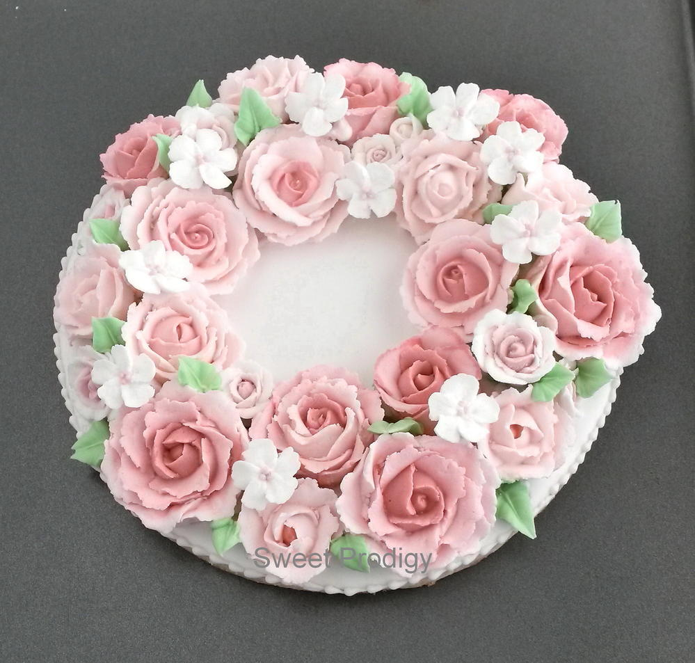 Wreath of Roses for Mom
