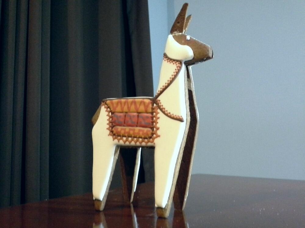 3-D Peruvian Llama is Here from Far Away