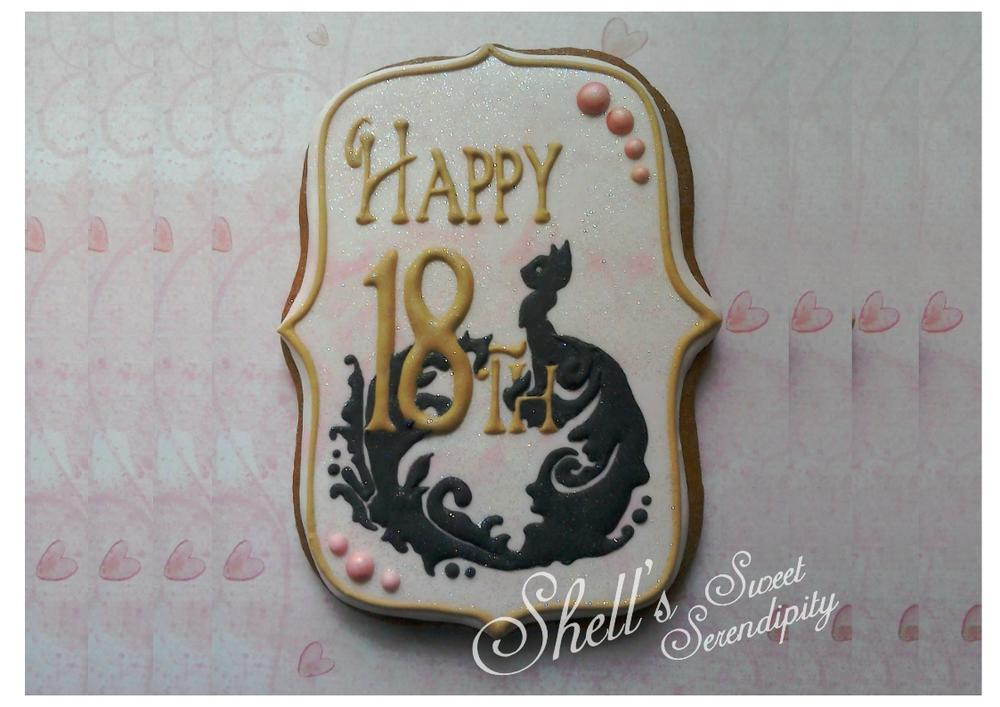Elegant Cat Cookie by Shell's Sweet Serendipity