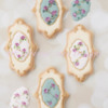 Hand Painted Vintage Rose Cookies