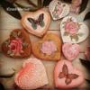 Hot summer rose garden cookies