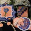 Blue & Coral Trio