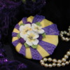 Purple & Yellow Passion Stenciled Cookie