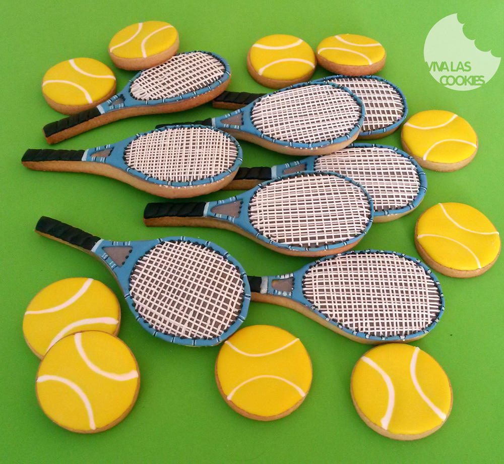 Tennis Racket Cookie Cookie Connection