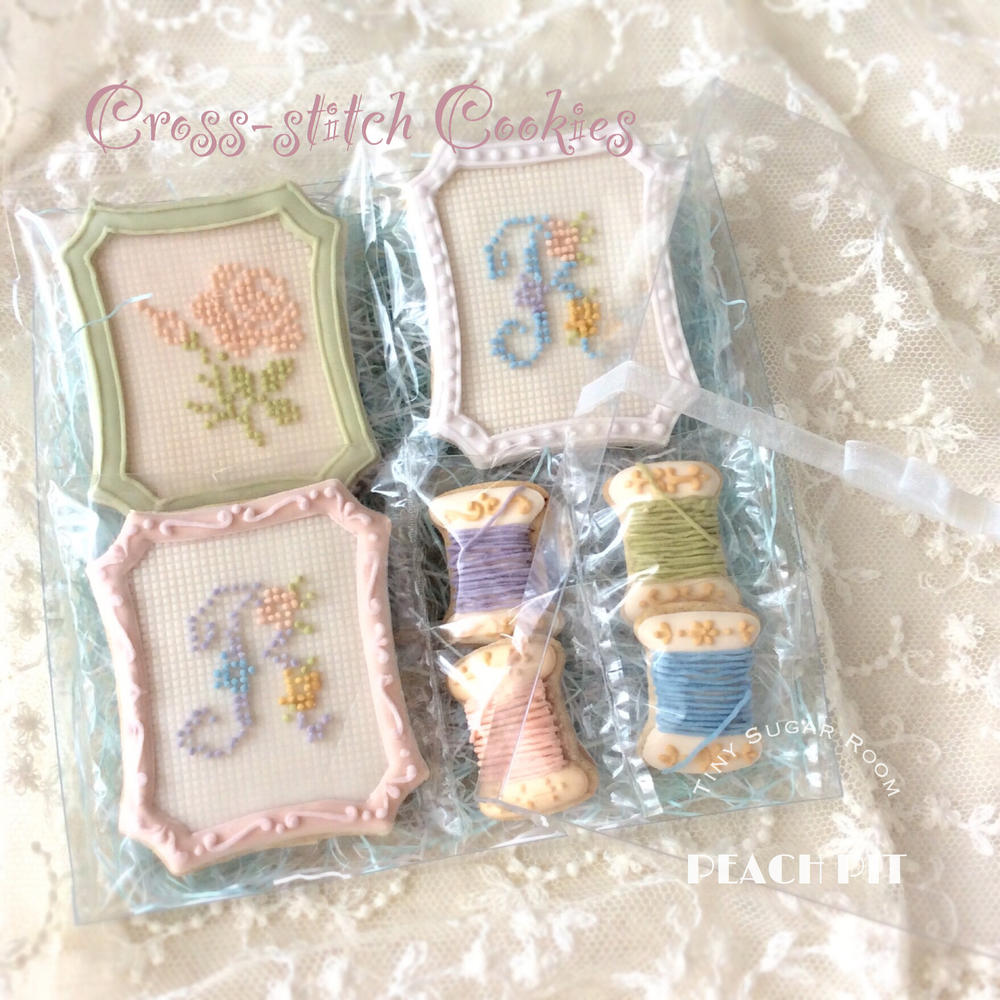Small Gift ♡ Cross-stitch Cookies