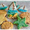Nautical decorated cookies